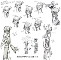 Arsenal Character Sketches by Zerna