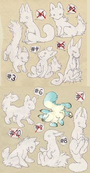 10 Lineart Adoptables (3 left) paypal OR points by HJeojeo