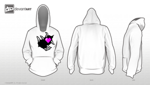 RipHeart - hoodie design two by JaeToh