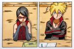Boruto and Sarada by jardc87
