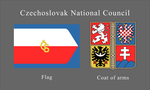 Czechoslovak National Council flag and arms by SoaringAven