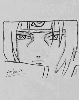 A Fast Sketch Of Itachi From Naruto by Pixetomics