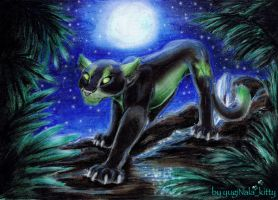 DarkNeko, a mountain lion by YunakiDraw