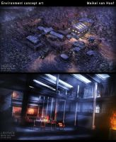 Project Siberia concept art environments by Laggtastic