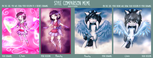 Style Comparison Meme- Peachy and Chen by PeachyKat