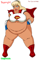 Supergirl in Supersize by G-Nibbles