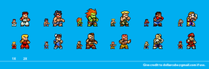Street Fighter 2 Sprites by dollarcube