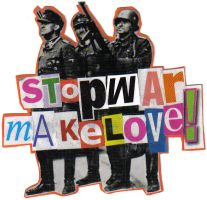 stop war make love by pizmon