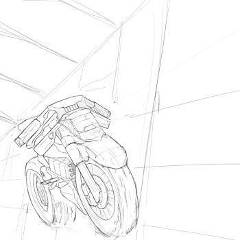 Superbike sketch by Dorshiffe