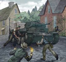 Attacking the tank by Victoria-Poloniae