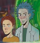 Rick and Morty Doodle by KidiMaster
