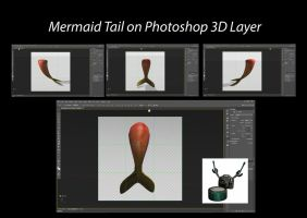 Mermaid Tail on Photoshop 3D Layer by ArthurRamsey