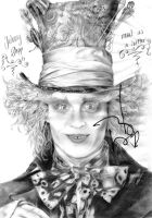 Mad Johnny with autograph by Mizz-Depp