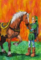 Link And Epona by Minttu80