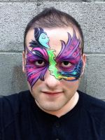 Maleficent Face Painting by RonnieMena