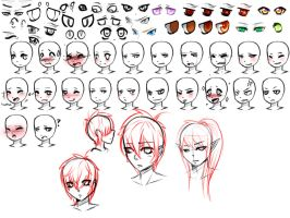 Face Sheet (free reference) by xBaka-Princex