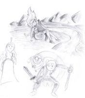 Adventure Time Doodle by KuddlyFatality