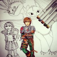 Hiccup WIP by MuArtGL