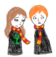 Ron and Hermione by fathonlou