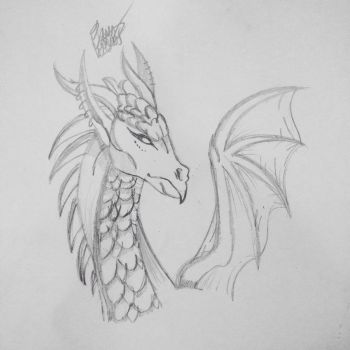 Sketch of a Dragon by Creativecupcake257