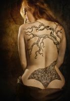 The tree of paradise by Meatshop-Tattoo