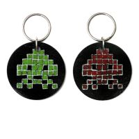 Space Invaders Keychain by arcade-art