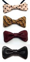 Leather Bow Ties 01 by Tobias-lockhart