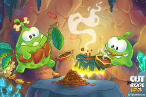 Om Nom in the Stone Age 04 by Maksim2d