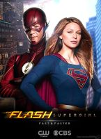 The Flash and Supergirl TV Poster by Timetravel6000v2