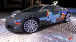 Rainbow Dash Bugatti Veyron by Crystal-Eclair