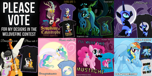 Please Vote for Me in the Welovefine Contest! by drawponies