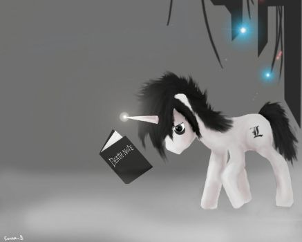 L death note my little pony by Shinyforest