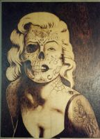 Marilyn Monroe Pyrography by LostTwilight27