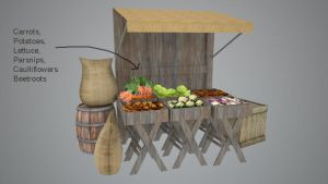 Vegetables Stall Sketchup Design by Chestbearman