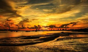 Sunset in johor by zyteng