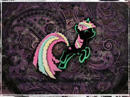 Digital Wallpaper: Carefree in Paisley by UkuleleMoon
