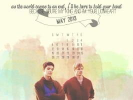 Merthur May 2013 Calendar by flamingotown