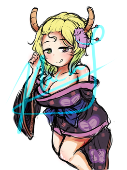 Lucoa colored sketch (potential future speedpaint) by Neko-Priestess327