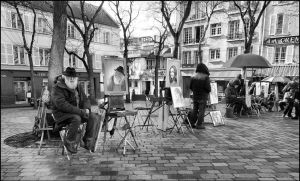 Montmartre in winter by SUDOR