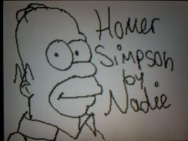 Homer Simpson by Kandyfloss30a