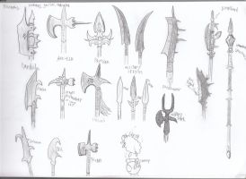 weapons polearms 1 by dragonsdale