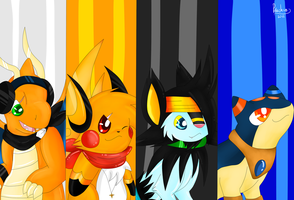 the first 4 leaders by Pikachim-Michi
