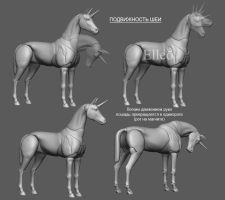 Horse bjd doll by leo3dmodels