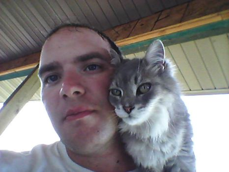 Me and Neighbors cat Daisy by ShockWaveX2