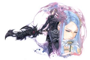 Final Fantasy 13-2 Caius And Yeul Curse Of Time by Nick-Ian