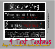 9 Text Textures by risuchan18