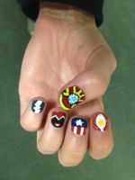 Age of Ultron Nail Art (Left Hand) by goldenConnpass