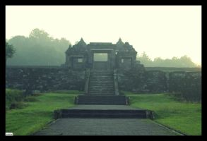 The Ratu Boko entrance by mangyop