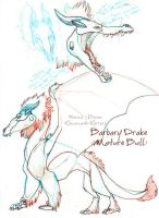 Barbary Drake Bull Concept Sketches by WormsandBones