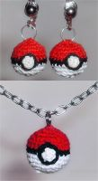 Pokeball Jewelry set by W0IfDreamer